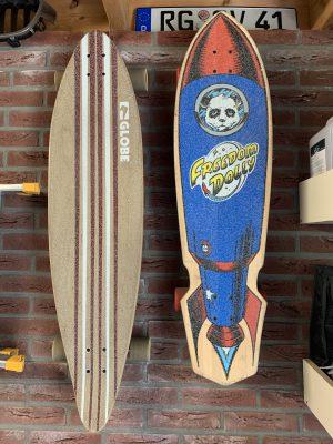 Longboards aan de muur i.p.v. op de grond